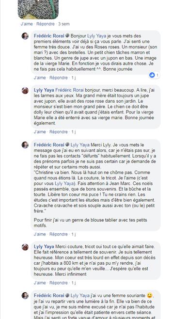 Contact «défunte» Yvette